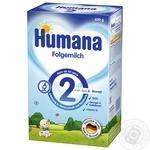 Смесь сухая молочная Humana 2 mit Prebiotik для детей от 6 месяцев и старше 600г