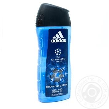Гель для душу Adidas Uefa №4 250мл - купити, ціни на Novus - фото 1