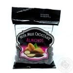 Миндаль Hazelnuts в черном шоколаде 90г
