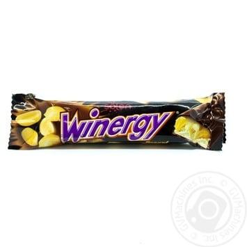 Батончик Winegry в молочному шоколаді з карамеллю нугою арахісом 30г - купити, ціни на Novus - фото 1