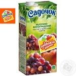 Нектар Садочок яблучно-виноградний з червоних сортів 0,95л