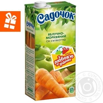 Сік Садочок яблучно-морквяний 0,95л