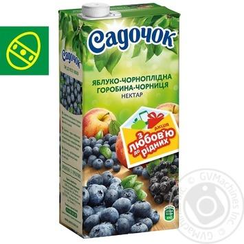 Нектар Садочок яблуко-чорноплідна горобина-чорниця 0,95л