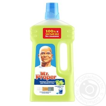 Средство чистящее Mr. Proper для уборки пола и стен лайм и мята 1л