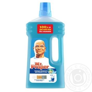 Средство моющее Mr. Proper для уборки пола и стен океан 1л - купить, цены на МегаМаркет - фото 1