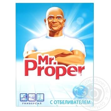 Средство для твердых поверхностей Mr Proper Универсал с отбеливателем 400г