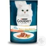 Gourmet Perle Duo with salmon and pollack cat food 85g