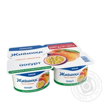 Йогурт Danone Живинка Персик-маракуйя 1.5% 4шт 115г - купить, цены на Novus - фото 2
