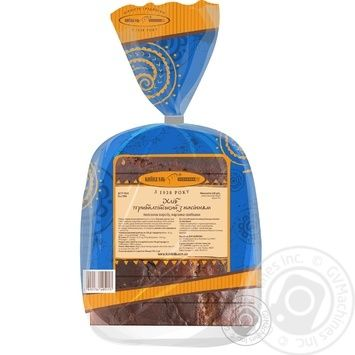 Хлеб Киевхлеб Прибалтийский с семечками половина нарезка 325г - купить, цены на Novus - фото 2