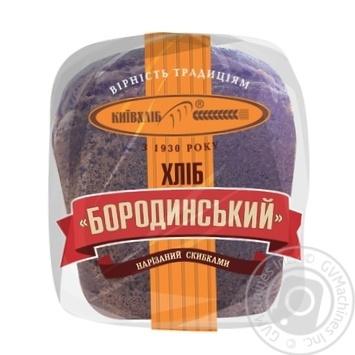 Хлеб КиевХлеб Бородинский нарезанный 400г - купить, цены на Novus - фото 2
