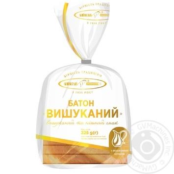 Батон Киевхлеб Изысканный нарезной половинка 225г - купить, цены на СитиМаркет - фото 1