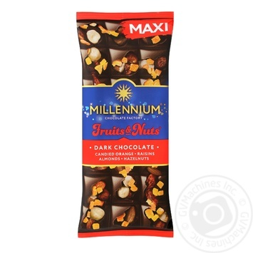 Millenium with candied fruits-almond-hazelnuts black chocolate 140g - buy, prices for Novus - image 1