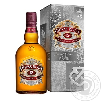 Chivas Regal 12YO Blended Scotch Wisky 1l gift box
