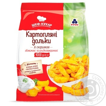 Rud Frozen Potato Slices with Crust 1kg - buy, prices for CityMarket - photo 1