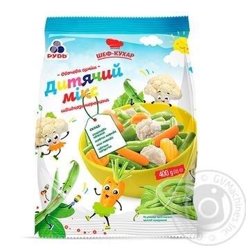 Смесь овощная Рудь Шеф-повар Детский микс быстрозамороженная 400г - купить, цены на Novus - фото 1