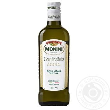 Масло оливковое Monini Granfruttato Extra Vergine премиум-класса 500мл - купить, цены на Novus - фото 1