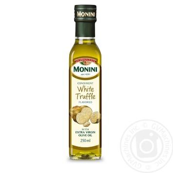 Масло оливковое Monini Extra Virgin с натуральным экстрактом белого трюфеля 250мл - купить, цены на Novus - фото 1