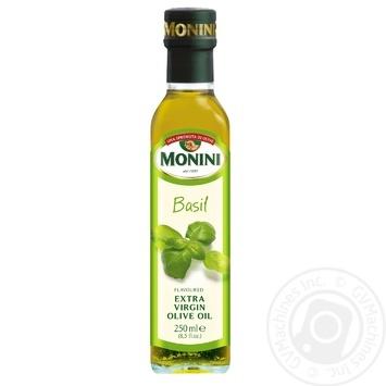 Масло оливковое Monini Extra Virgin с добавлением базилика 250мл - купить, цены на Novus - фото 1
