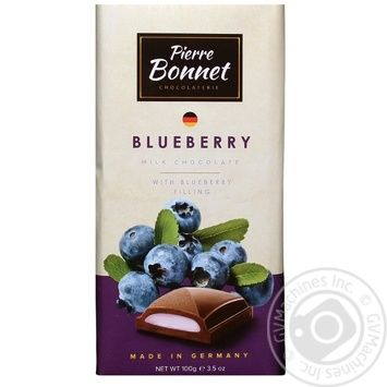 Pierre Bonnet milk chocolate with blueberry filling 100g - buy, prices for Novus - image 1