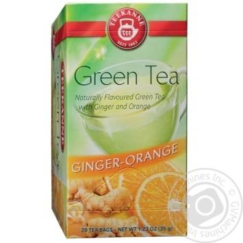 Чай зеленый Teekanne с апельсином и имбирем 20шт 1.75г - купить, цены на Novus - фото 1