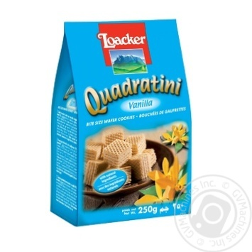 Loacker Quadratini Vanilla wafers 250g - buy, prices for MegaMarket - image 1