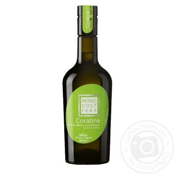 Масло оливковое Monini Extra Vergine Monocultivar Coratina Bio 500мл - купить, цены на Novus - фото 1