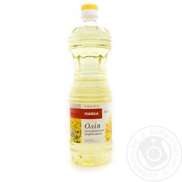 Олія соняшникова рафінована марки П  Marka Promo 0,85л