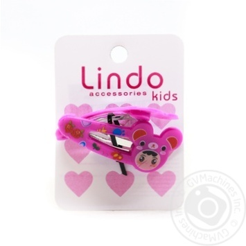 Заколка Lindo детская 2шт LN-875 - купить, цены на СитиМаркет - фото 1