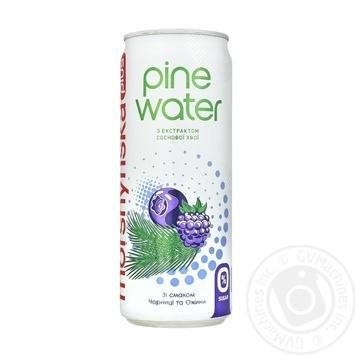 Напій безалкогольний Моршинська плюс Pine Water Чорниця та Ожина з екстрактом соснової хвої 0,33л