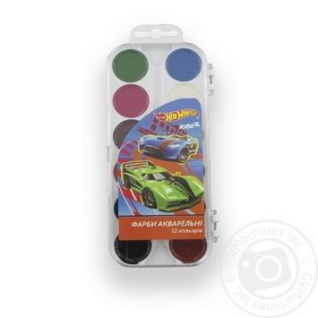 Краски акварельные Hot Wheels Kite 12 цветов - купить, цены на Метро - фото 1