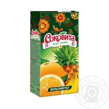 Напиток Соковита сокосодержащий мультифруктовый 950мл пэт Украина