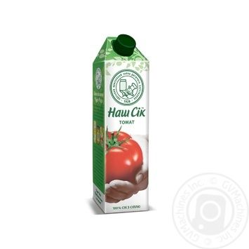 Сок Наш сок Томатный с мякотью 950мл