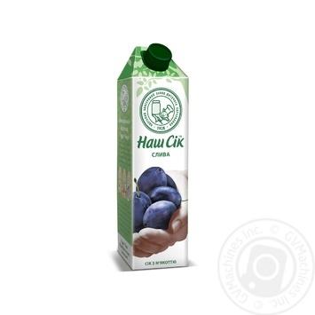 Plum juice with pulp Nash Sok 950ml