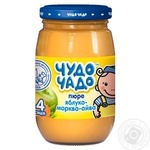 Chudo-Chado apple-carrot-quince puree for babies 4 months and older 170ml