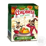 Напій Соковіта соковмісний яблучно-персиковий з м'якоттю 200мл пет Україна