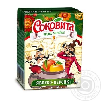Напиток Соковита сокосодержащий яблочно-персиковый   с мякотью 200мл пэт Украина
