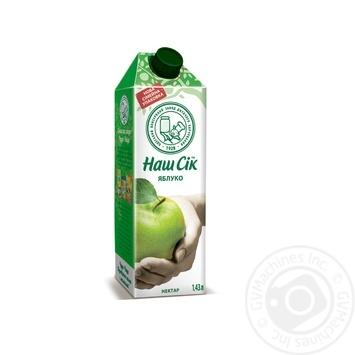 Нектар Наш Сок яблочный 1430мл - купить, цены на Novus - фото 1