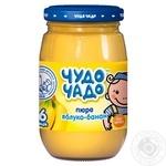 Детское питание для детей с 6-ти месяцев Чудо-Чадо Пюре яблочно-банановое натуральное без сахара 170г