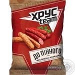 HrusTeam Crisps with hunting sausages taste 70g