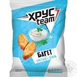HrusTeam Crisps Baguette with sour cream and greens taste 60g