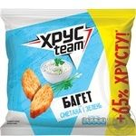 HrusTeam Crisps Baguette with sour cream and herbs  taste 100g