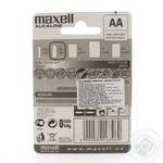 Батарейка Maxell alkaline LR6 AA 2шт - купить, цены на Таврия В - фото 2