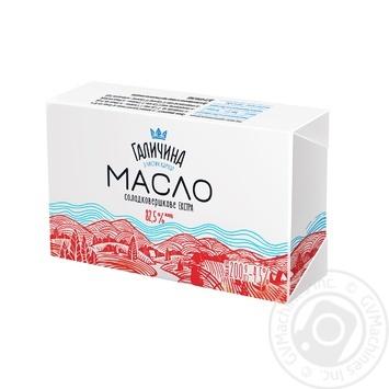 Масло Галичина солодковершкове екстра 82,5% 200г - купити, ціни на Ашан - фото 1