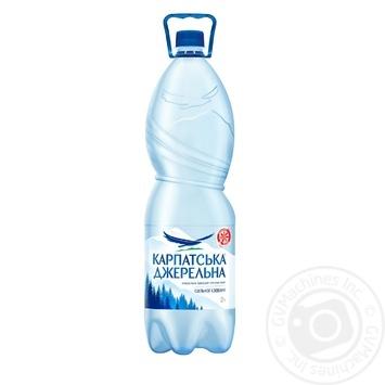 Вода Карпатская Джерельна сильногазированная 2л