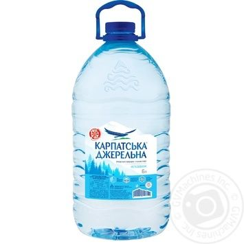Karpatska Dzherelna Water 6l - buy, prices for MegaMarket - image 1
