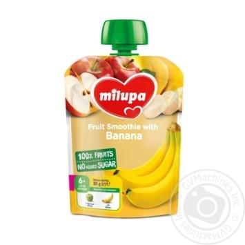 Пюре фруктове Milupa Яблуко та Банан для дітей з 6 місяців 80г - купити, ціни на Novus - фото 1