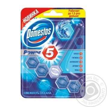 Блок для унитаза Domestos Power 5 Свежесть океана 55г - купить, цены на Novus - фото 4