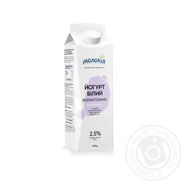 Йогурт Молокія Белый безлактозный питьевой 2,5% 430г