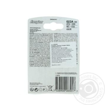 Батарейка Energizer Alkaline A23/E23A FSB спеціальна лужна 1шт - купить, цены на Novus - фото 2