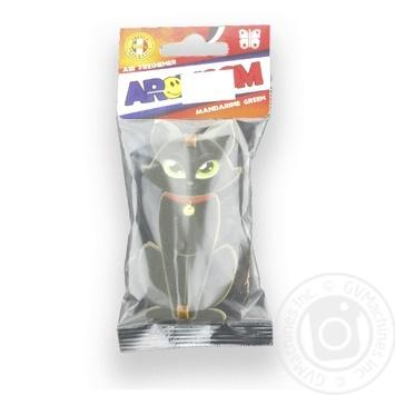 Ароматизатор AromCom Кіт Зелений мандарин 15г - купити, ціни на МегаМаркет - фото 1